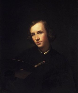 George Henry Hall (artist) - George Henry Hall, Self-Portrait, 1845, Brooklyn Museum of Art, gift of Jennie Augusta Brownscombe