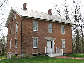 New Albany, Ohio - The George and Christina Ealy House, a historic site in the city