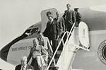Gerald Ford deplaning at Patrick Henry Airport before third debate7.jpg