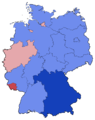 German Federal Election - Party list vote results by state - 1990.png