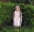 Giardino torrigiani, statua neoegizia con orari e regole 01.JPG