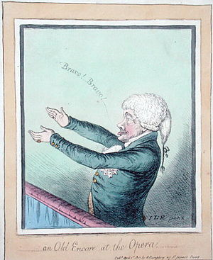 John Stewart, 7th Earl of Galloway - John Stewart depicted in James Gillray's An Old Encore at the Opera! of 1803