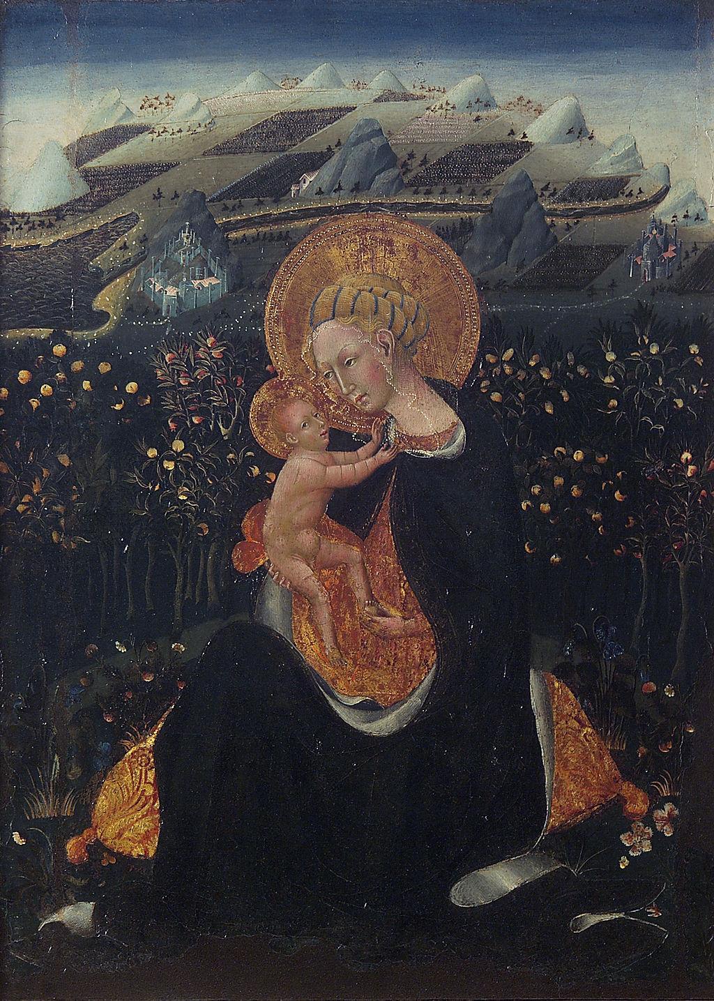 Giovanni di Paolo, Madonna dell'Umiltà, 1435 circa, tempera su tavola, 62× 48 cm, Pinacoteca nazionale, Siena