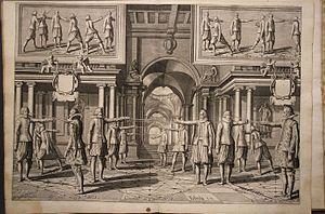 Destreza - Académie de l'Espée by Girard Thibault, fig. xiii, 1628