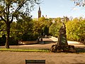 Glasgow, war memorial and footbridge, Kelvingrove Park - geograph.org.uk - 1539579.jpg