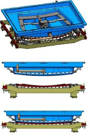Car glass - Image: Glass press production mould tool