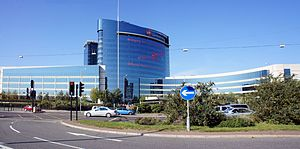 Pharmaceutical industry in the United Kingdom - The world headquarters of GlaxoSmithKline in Brentford, London