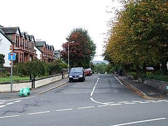 Bishopton, Renfrewshire - Image: Gledstane Road geograph.org.uk 572673