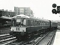 Gloucester RC&W Co Class 119 Cross Country 3 car dmu W51077, W59420, W51105 (8327138452).jpg