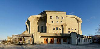 Expressionist architecture - Goetheanum in Dornach near Basel Switzerland, 1924–28 (Rudolf Steiner)