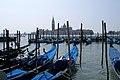 Gondolas docked in Venice, Giorgio Maggiore, Venice, Italy.jpg