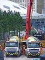 Goods way BAM construction site, Kings Cross - Lafarge cement DAF mixers.jpg