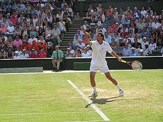 Goran Ivanišević - Ivanišević at the 2004 Wimbledon Championships