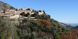 Gorbio - A general view of Gorbio