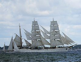 Gorch Fock in de Kieler Bocht