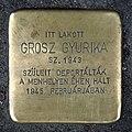 Grósz Gyurika stolperstein (Budapest-06 Szondi u 42).jpg