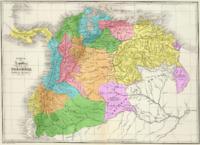 Mapa da Gr�-Col�mbia.