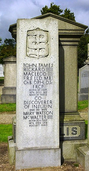 John Macleod (physiologist) - Grave of Macleod and his wife at Aberdeen cemetery