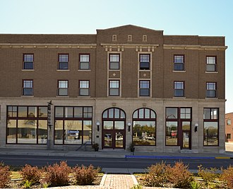 National Register of Historic Places listings in Becker County, Minnesota - Image: Graystone Hotel in Detroit Lakes, Minnesota