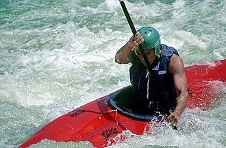 Kayak - Whitewater kayaker at Great Falls, Virginia, United States