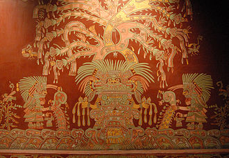 Painting in the Americas before European colonization - Image: Great Goddess of Teotihuacan (T Aleto)