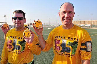 Smiley Cookie - Some Pittsburghers showing off their Smiley cookies in Kuwait