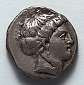 Greece, Metapontum, 4th century BC - Stater- Head of Koré (obverse) - 1916.991.a - Cleveland Museum of Art.jpg