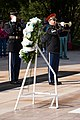 Greece's Alternate Minister of National Defence lays a wreath at the Tomb of the Unknown Soldier in Arlington National Cemetery (22174985155).jpg