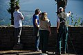 Group enjoying view from Nancy Russell Overlook-Columbia River Gorge (25126074965).jpg