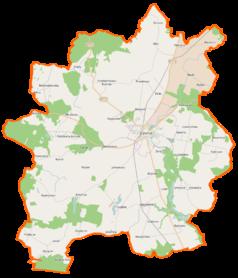 Mapa lokalizacyjna gminy Gryfice