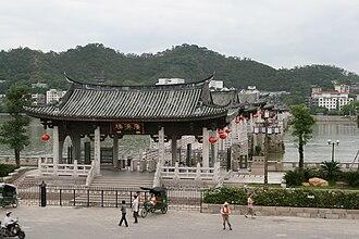 Han River (Guangdong) - The Guangji Bridge crosses the Han River in Chaozhou.