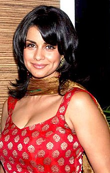 adad26f2bf Actress Gul Panag wearing a modern kameez top having low neckline and with  dupatta draped over the neck