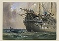 H.M.S. Agamemnon Laying the Atlantic Telegraph Cable in 1858- a Whale Crosses the Line MET DP119837.jpg