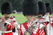 Honourable Artillery Company corps of drums at the HAC polo day