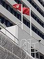 HK 荃灣 Tsuen Wan 荃景圍 Tsuen King Circuit 荃灣警署 Tsuen Wan Police Station flagpoles January 2021 SS2 10.jpg