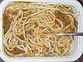 HK Food 波仔 Eat-East 鮮茄牛肉醬意粉 Beet in Tomato Sauce with Spaghetti 03 read to eat.JPG