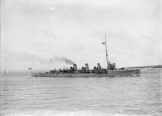 Scout cruiser - HMS Sentinel, the first scout cruiser