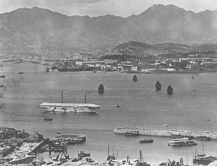 HMS Tamar anchored off the naval dockyard in Victoria Harbour in 1905 HMS Tamar.jpg