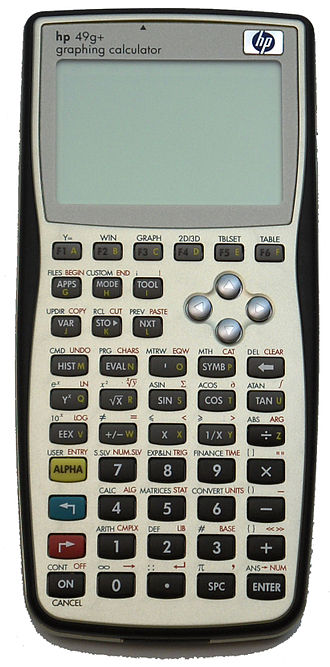 Comparison of HP graphing calculators - Image: HPIM2605
