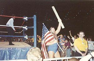 Jim Duggan - Duggan in a WWF event