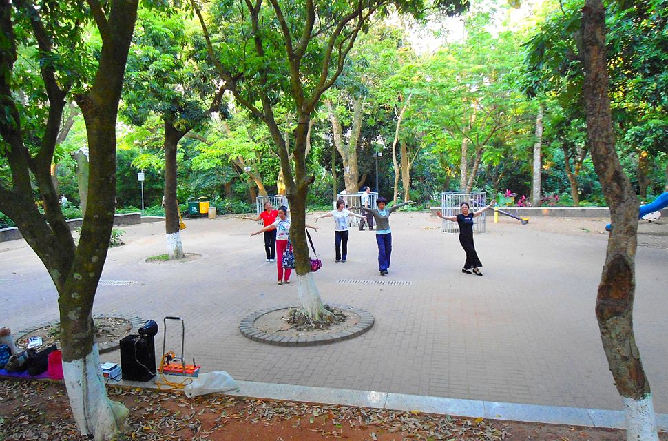 Haikou People's Park - Chinese fitness dancing - 01
