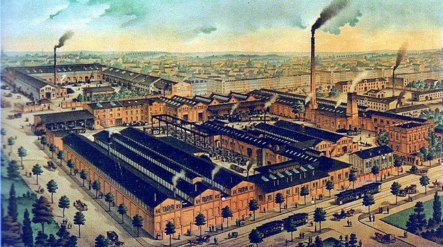 Factories and corporations are also considered private property Hallesche Maschinenfabrik.jpg