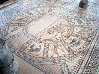 Hamat Tiberias - Zodiac mosaic floor, synagogue in Hamat Tiberias