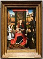 Hans Memling, madonna col bambino, un angelo e un donatore, 1480 ca. 01.jpg