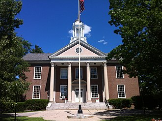 Gould Academy - Hanscom Hall contains the library, classrooms, and administrative offices