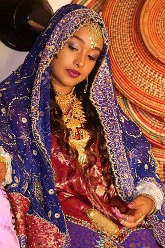 Harari people - Harari woman in traditional attire.