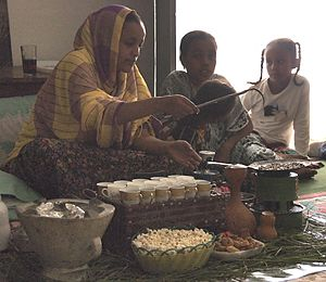 Harari people - Harari women holding a traditional coffee ceremony.