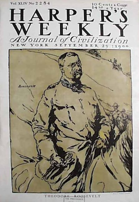 Harper%27s Weekly Cover Featuring Teddy Roosevelt