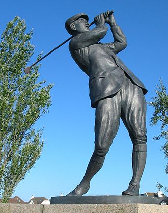 Harry Vardon - Statue of Vardon at the Royal Jersey Golf Club on the Island of Jersey