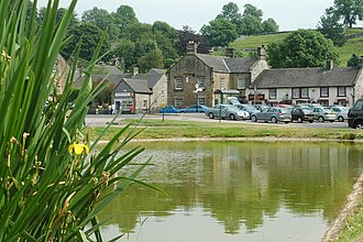 Hartington, Derbyshire - The pond in the centre of Hartington